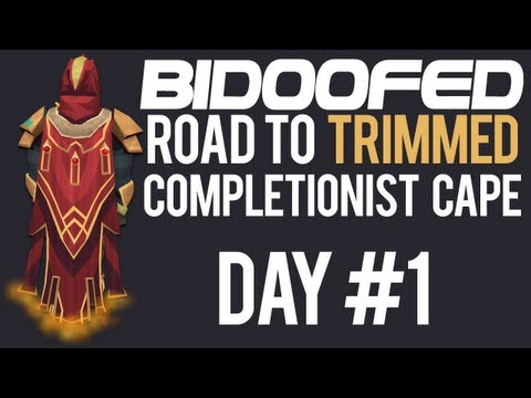►RuneScape Road to Trimmed Completionist Cape – Day #1