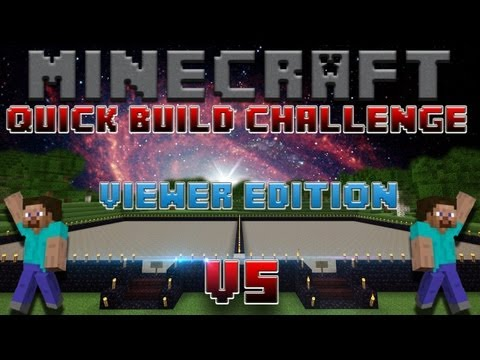 Minecraft Quick Build Challenge – Viewer Edition! (Hollow vs Evanz) Current Win Streak: 0!