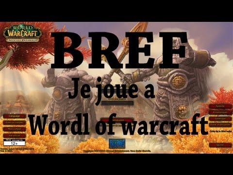 Bref. je joue a world of warcraft [PARODIE]