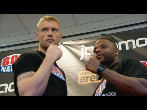 Freddie Flintoff weighs-in for fight night