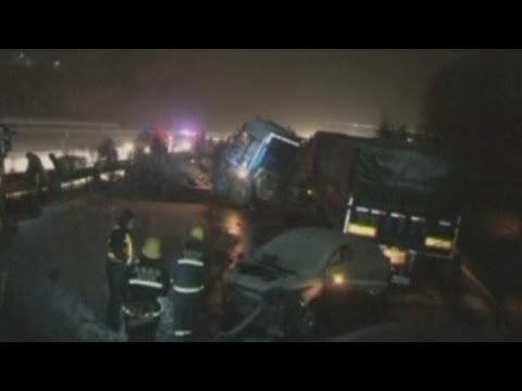 Forty-six car pile-up in China kills one