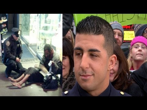 NYPD Officer Homeless Man Photo Goes Viral: Lawrence DiPrimo Interview on 'GMA'