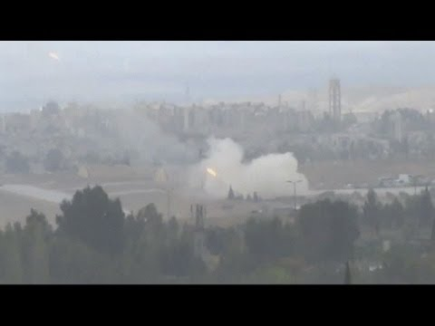 Amateur footage: Syrian forces bombard rebel districts