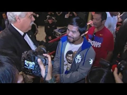 Manny Pacquiao and Juan Manuel Marquez arrive in Las Vegas for fight