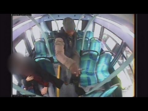 CCTV: Man strangled with a scarf in unprovoked bus attack