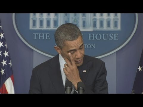 Connecticut shootings move US President Barack Obama to tears