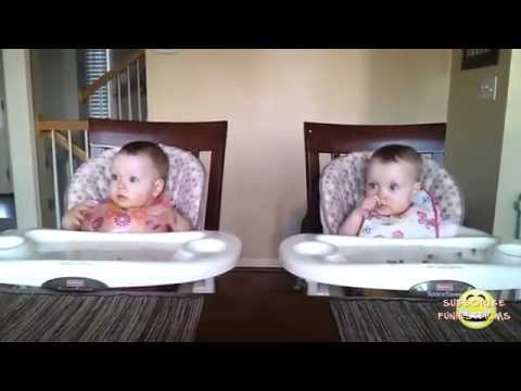 FUNNY twin babies reaction to daddy playing guitar
