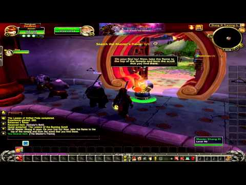 Mists of Pandaria,WoW girl, leveling Pandarian Monk 1-3 , World of Warcraft