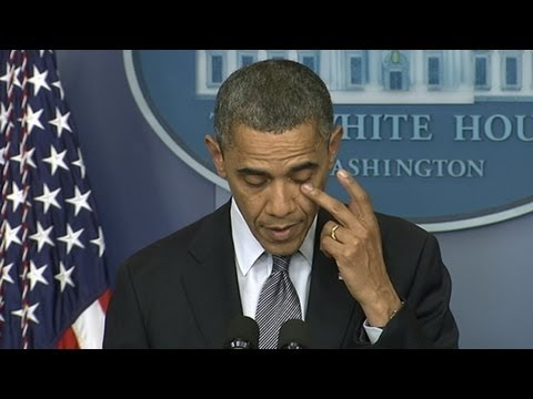 Connecticut School Shooting at Sandy Hook Elementary: Obama's Emotional Address 'Hearts Are Broken'