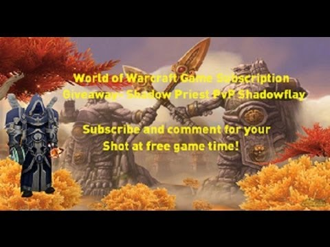 World of Warcraft 2 Month Game Card Giveaway! Mist of Pandaria Shadow Priest PvP
