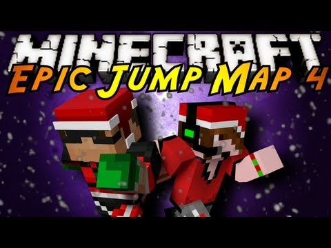 Minecraft: Epic Jump Map Christmas Part 2!