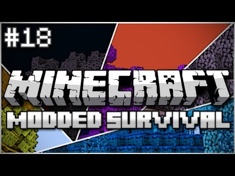 Minecraft: Modded Survival Let's Play Ep. 18 – Into the Nether