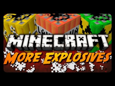 Minecraft: More Explosives Mod! (Missiles, Land Mines, Fireworks & More)
