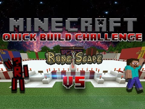 Minecraft Quick Build Challenge: Runescape! (1v1 voice)