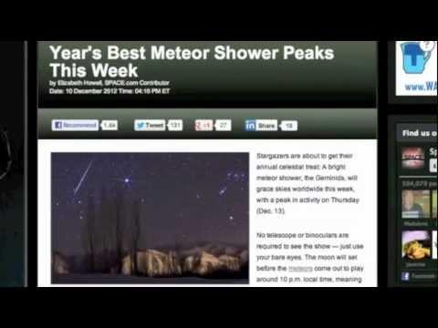 3MIN News December 12, 2012: Geminid Meteor Showers