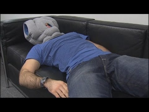 Ostrich pillow gives the power nap a new twist