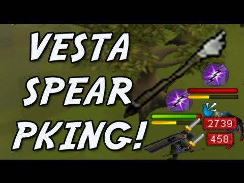 Runescape Soft Pillow Pk Commentary 97! (Vesta Spear Pking!)