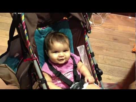 Funny Babies- Baby girl laughing at Seasame Street Ernie puppet