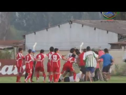 Referee attacked in football brawl in Chile